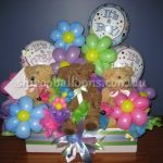 teddy bear balloons for baby shower