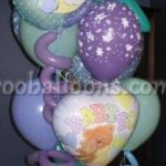 Its A Boy Purple Balloons