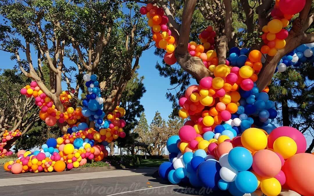 CE-57 - corporate - beautiful balloon backdrop - shivoo balloons and decor specialists in coburg north