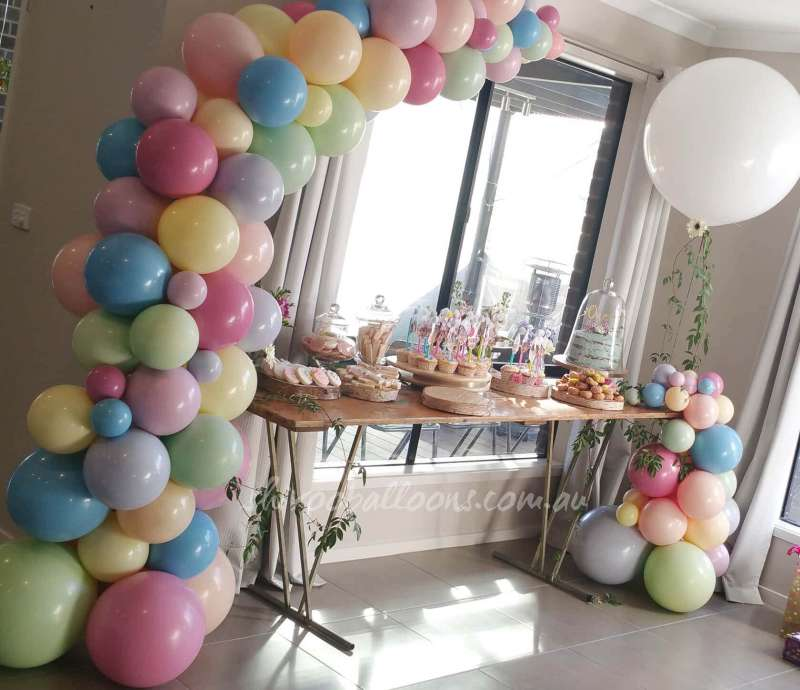 BD-34 - backdrop - beautiful balloon backdrop - shivoo balloons and decor specialists in coburg north